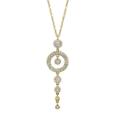 0.53ct 14k Yellow Gold Diamond Necklace