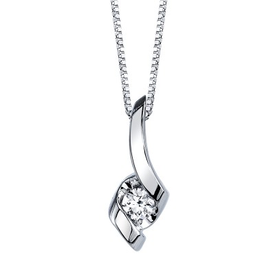 Diamond Solitaire Necklace from the Sirena Collection