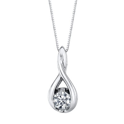 1/12 Carat Diamond Solitaire Necklace by Sirena