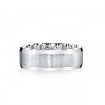 MFIT<sup>&reg;</sup> 7.5MM Satin Center Band In 10KT White Gold