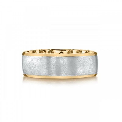 MFIT<sup>&reg;</sup> 7MM White Gold Satin Center Band In 10KT Gold Two Tone