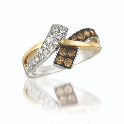 14K Two Tone Gold Ring with Chocolate Diamonds®