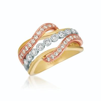 14K Tri Color Gold RING