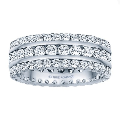 Etr318-14k White Gold Eternity Band
