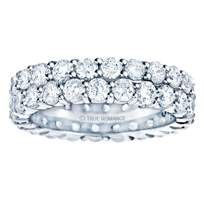 Etr903-14k White Gold Eternity Band
