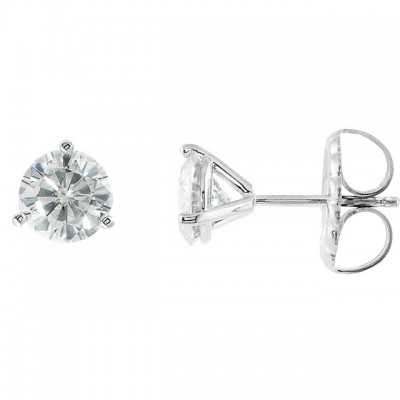 1 Carat tw Martini setting Diamond Stud Earrings