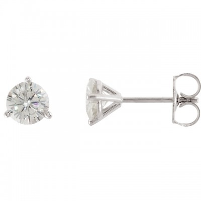 3/4 Caratt tw Martini Setting Diamond Stud Earrings