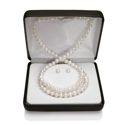Child's Freshwater Pearl Set of Necklace, Bracelet & Earrings