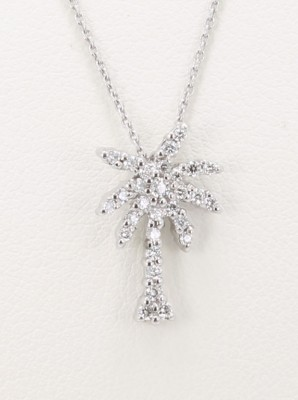 Roberto Coin 18kt Diamond Small Palm Tree Pendant