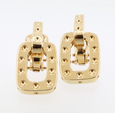 Roberto Coin Pois Moi 18KT Yellow Gold Earrings