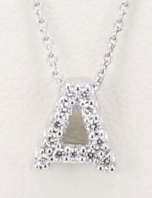 Roberto Coin Diamond Initial A Pendant