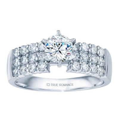 Rm1135-14k White Gold Classic Engagement Ring