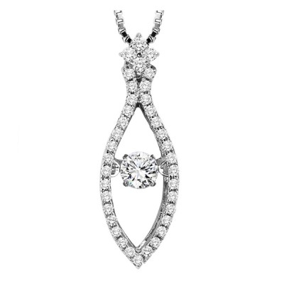 Rhythm of Love Diamond Pendant featuring 1/2 ctw diamonds in 14K Gold
