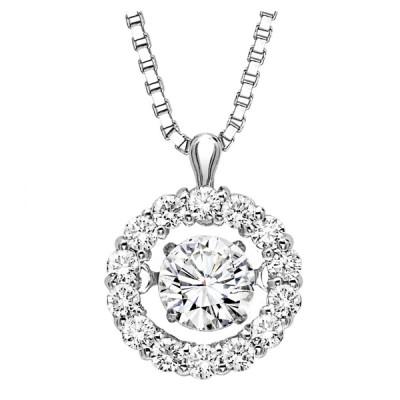 Rhythm of Love Diamond Pendant featuring 1/2 ctw diamonds in 14K Gold