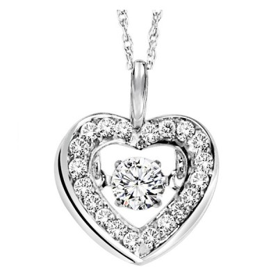 Rhythm of Love Diamond Pendant featuring 1/3 ctw diamonds in 14K Gold