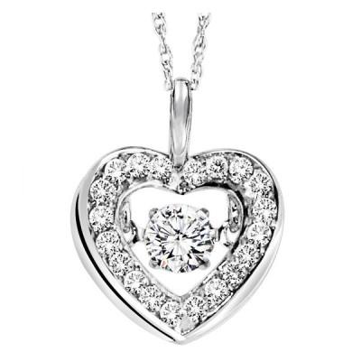 Rhythm of Love Diamond Pendant featuring 1/3 ctw diamonds in 14K Gold