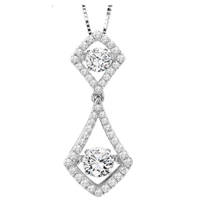 Rhythm of Love Diamond Pendant featuring 3/4 ctw diamonds in 14K Gold