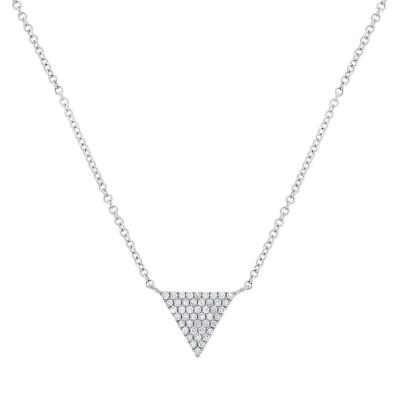 Diamond PAVE TRIANGLE Necklace