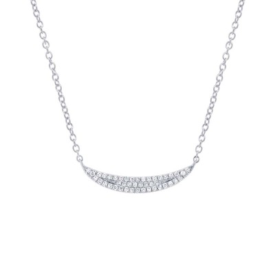 Diamond PAVE CRESCENT Necklace
