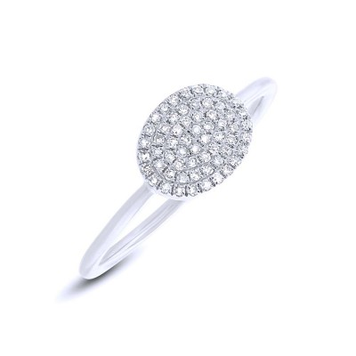 Diamond OVAL PAVE Ladies Ring