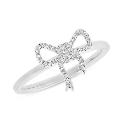 Diamond BOW LADY'S Ladies Ring