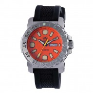Orng Dial Blk Gryphon Strap
