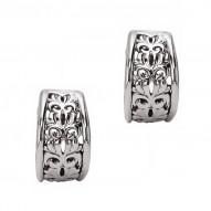 Sterling Silver & 14kw Earrings 12.5mm