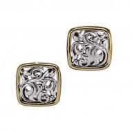 Sterling Silver 18kg & 14kw Earrings