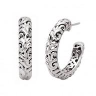 Sterling Silver & 14kw Earrings. 30mm