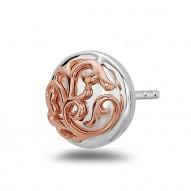 Sterling Silver/18Kp  Stud Earrings