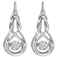 "Ladies Love Knot Drop ""Rhythm Of Love"" Earrings"
