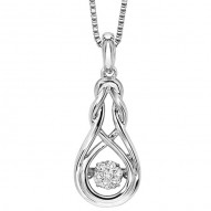Ladies Love Knot Drop Necklace
