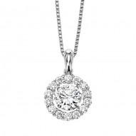 Ladies Circle E Diamond Necklace