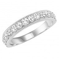 Ladies Diamond Milgrain Design Band