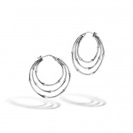 Bamboo Small Side Facing Orbital Hoop Earrings