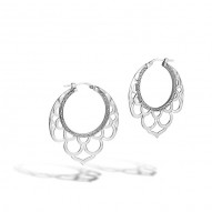 Legends Naga Small Side Facing Lace Hoop Earrings