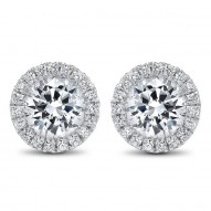 Round HALO Diamond Earrings