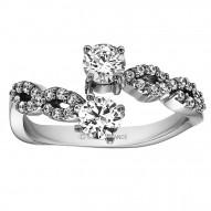 FA221 - Diamond Two Stone Ring