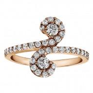 FA226 - Diamond Two Stone Ring