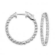 Round IN & OUT Diamond HOOP Earrings