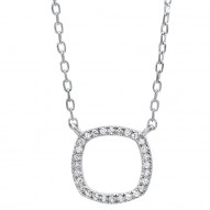 Square Shape Diamond Necklace