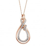 Double Tear Drop Shape Diamond Necklace