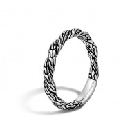 Classic Chain Flat Twisted Chain Band Ring