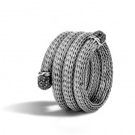 Classic Chain Multi Row Coil Ring