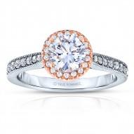 Rm1286rtt-14k White Gold Round Cut Halo Diamond Engagement Ring