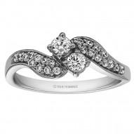 RM1397 - Diamond Two Stone Ring