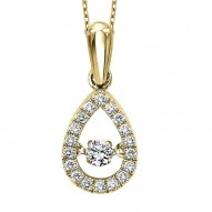 Tear Drop Shape Diamond Necklace
