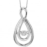 Double Tear Drop Shape Necklace