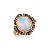 Large  OPAL & Diamond HALO Ring