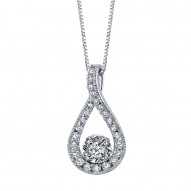 Ladies Diamond Solitaire Necklace from the Sirena Collection